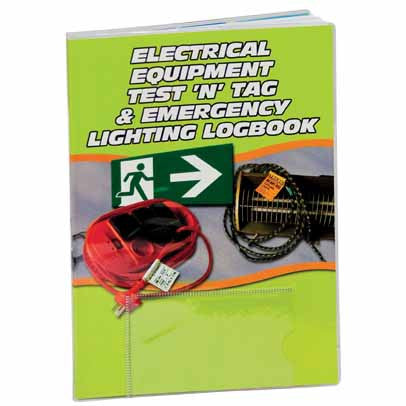 Electrical Test 'n' Tag & Emergency Lighting Logbook LB108