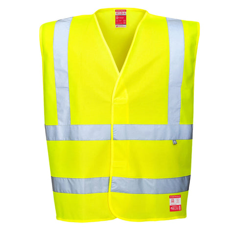 Portwest Bizflame Hi Vis Day/Night Flame Resistant & Anti-Static Vest FR71