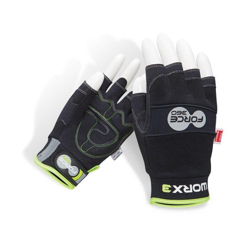 Force360 Original Mechanics Fingerless Gloves GWORX3