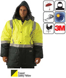 Huski - Freezer Jacket Forest/Safety Yellow #918044