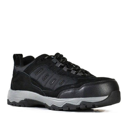 Bata - Sportsmates Fury, Black Suede Safety Jogger #851-62687