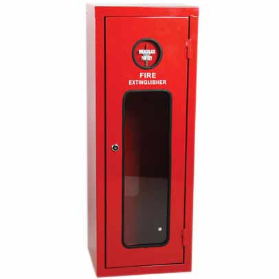 Galvanised Metal Extinguisher Cabinet