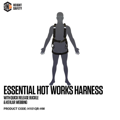 LINQ Essential Hot Works Harness with Quick Release Buckle & Kevlar Webbing # H101QR-HW