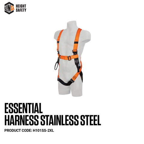 LINQ Essential Harness Stainless Steel (XL-2XL)  # H101SS-2XL