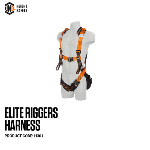 LINQ Elite Riggers Harness- Maxi (XL-2XL) cw Harness Bag (NBHAR) # H301-2XL