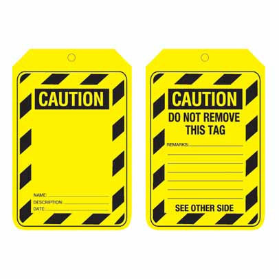 Lockout Tag Code UCT200 - Caution Blank