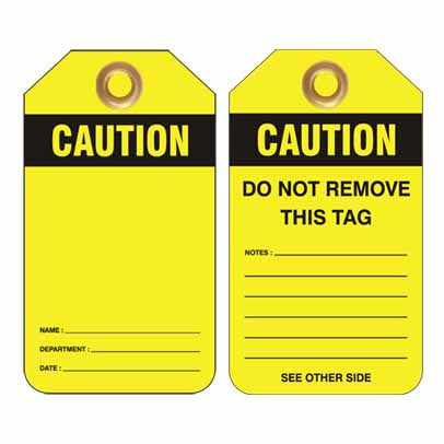 Lockout Tag Code UDT311 - Caution Blank