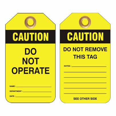 Lockout Tag Code UDT312 - Caution Do Not Operate