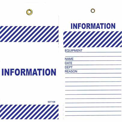 Lockout Tag Tear Proof Double Sided TDT106TP - Information