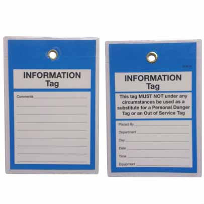 Lockout Tags Tamper Proof TDT117TP - Information Tag
