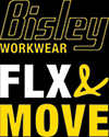 BISLEY FLEX & MOVE™ COTTON RICH HENLEY LONG SLEEVE TEE BK6932