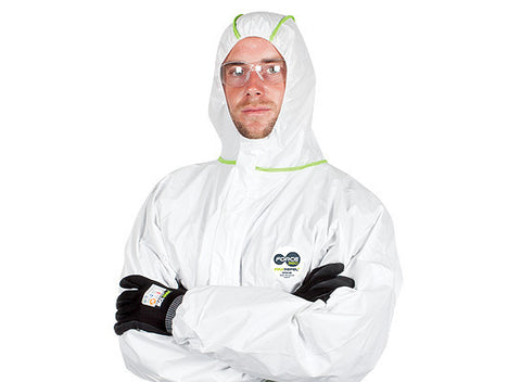Force360 Max Repel Coverall Disposable Type 4, 5, 6 (White) CFPR180