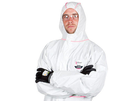 Force360 NBCF Zero Coverall Disposable Type 4, 5, 6 (White/Pink) NBCF45C