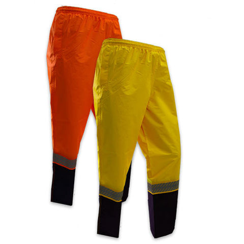 KM Workwear Hi Vis 2 Tone Wet Weather Pants c/w Segmented Tape