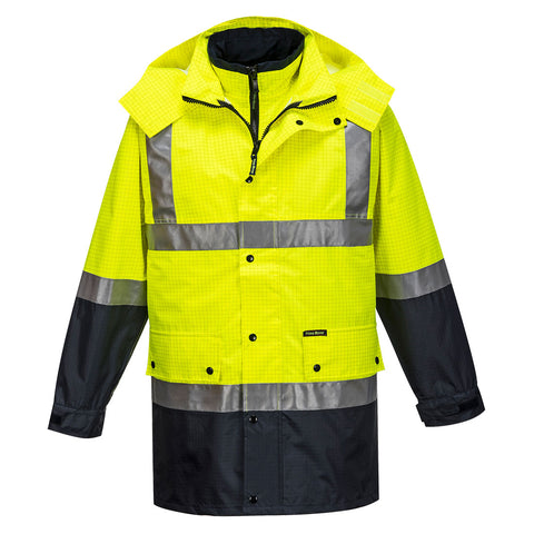 Portwest MacKay Anti-Static 4-1 Jacket (Yellow/Navy) MJ887