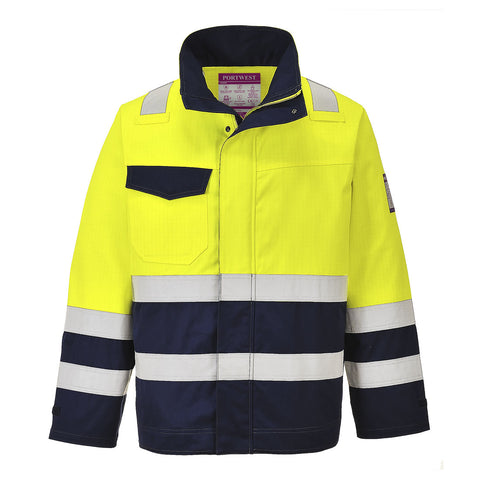Portwest Hi Vis Modaflame Jacket (Yellow/Navy) MV25