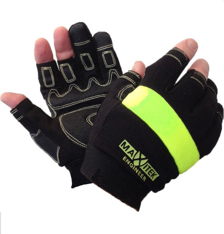 MAXITEK MARK II ANTI-VIBE 'ENGINEER' OPEN FINGER & THUMB GLOVE # MX2920TFF-A