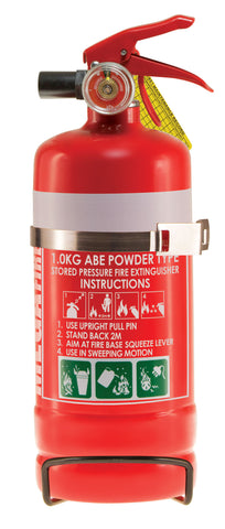 1kg ABE Fire Extinguisher c/w Vehicle Bracket #MF1ABE