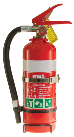 1.5kg ABE Fire Extinguisher c/w Vehicle Bracket #MF1ABE