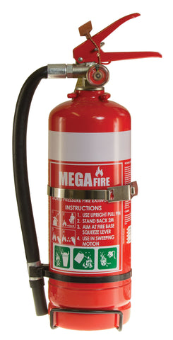2kg ABE Fire Extinguisher c/w Vehicle Bracket MF20ABE