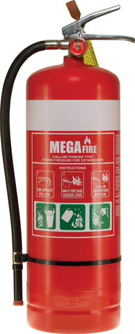 9kg ABE Fire Extinguisher c/w Wall Bracket #MF9ABE
