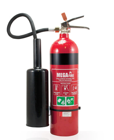 3.5KG CO2 FIRE EXTINGUISHER C/W WALL HOOK #MF3.5CO2