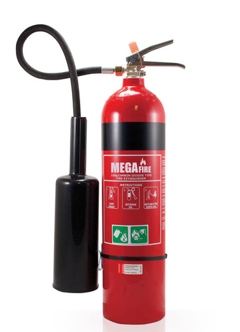 5.0 KG CO2 FIRE EXTINGUISHER C/W WALL HOOK #MF5CO2