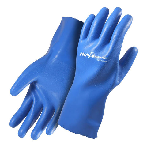 Ninja Multi-Tech NitraChem Glove 30cM Blue #NINITRACM
