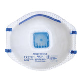 Portwest FFP2 Valved N95 Dust Mist Respirator (Box 10) P201