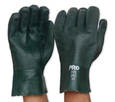 Pro Choice Green PVC Glove Short PVC27DD