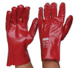 Pro Choice Red PVC Glove Short Single Dipped #HCPVC27