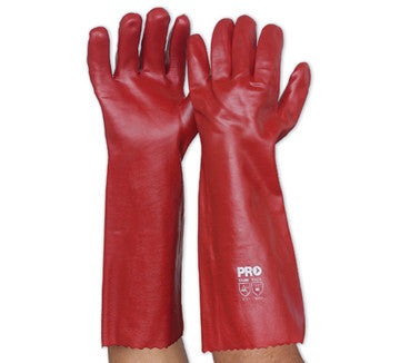 Pro Choice Red PVC Glove-Long Single Dipped #HCPVC45