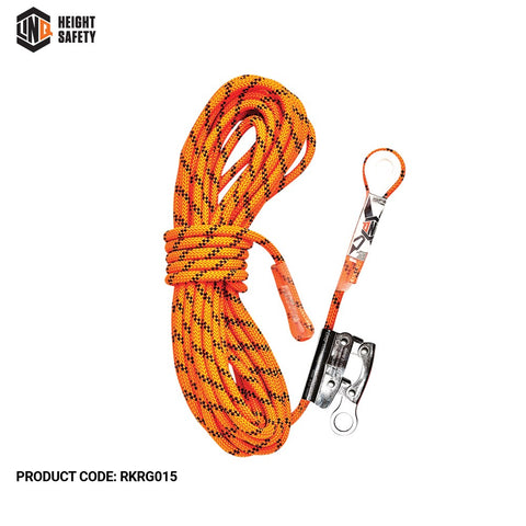 LINQ Rope Kernmantle thimble eye c/w Rope Grab 15m # RKRG