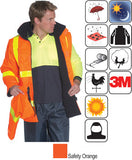 Huski - Roads Hi-Visibility 2 in 1 Waterproof Jacket (Orange) #918155