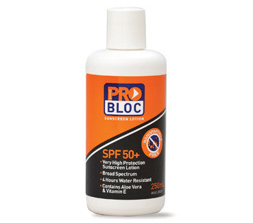 ProBloc SPF 50 Sunscreen 250ml Bottle SS250-50