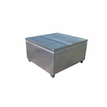 Galvanised Metal Single IBC Bund