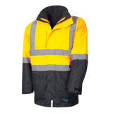 Tru Workwear Hi Vis 2 Tone 4 in 1 Jacket c/w Reflective Tape TJ2910T6