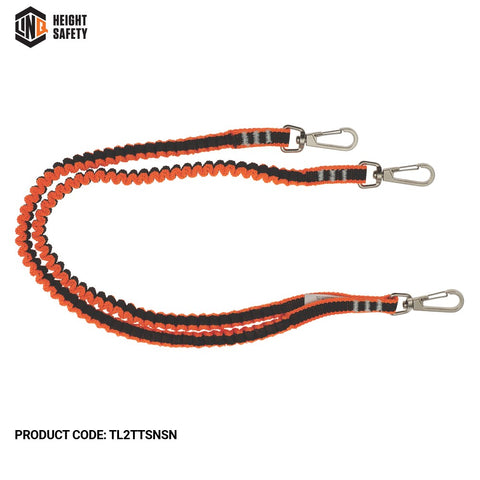 LINQ Twin Tail Tool Lanyard With 3 X Swivel Snap Hooks # TL2TTSNSN