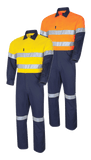 Tru Workwear Hi Vis 2 Tone Regular Weight Taped Coverall DC2180T1