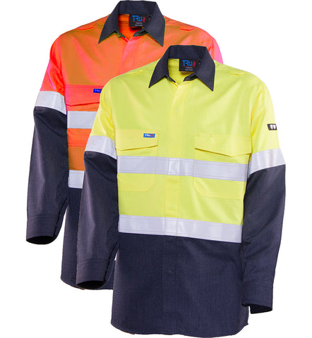 Tru Workwear - Shirt	Parvotex Inherent Fire Retardant Two Tone L/S	with FR Reflective Tape #TS2500T1