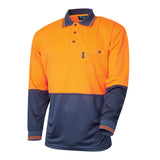 Tru Workwear Hi Vis 2 Tone Micromesh Long Sleeve Polo Shirt TS2850