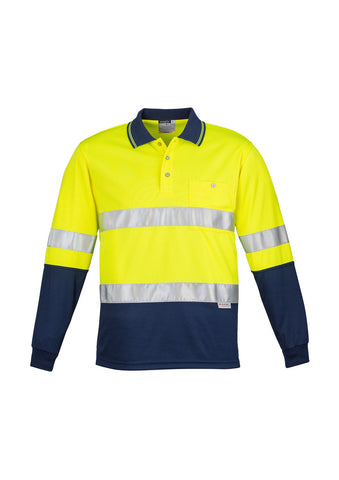 Syzmik Hi Vis Long Sleeve Hoop Taped Spliced Polo