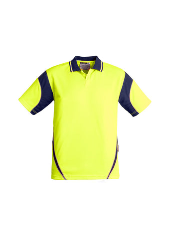 Syzmik Mens Hi Vis Aztec Short Sleeve Polo