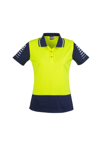 Syzmik Womens Hi Vis Zone Short Sleeve Polo