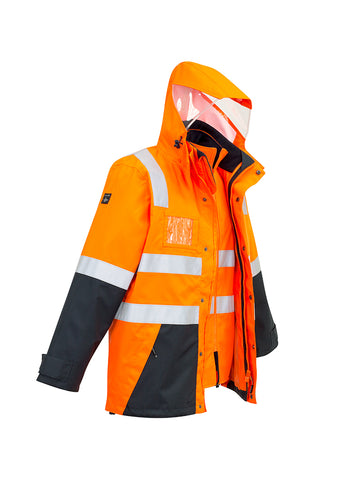 Syzmik Mens Hi Vis 4 in 1 Waterproof Jacket #ZJ532