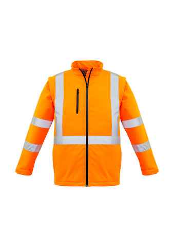 Syzmik Unisex Hi Vis 2 in 1 X Back Soft Shell Jacket Orange #ZJ680
