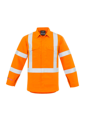 Syzmik Mens X Back Taped Spliced Shirt Orange #ZW137