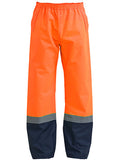 Bisley Taped Two Tone Hi Vis Shell Rain Pant c/w Reflective Tape #BP6965T