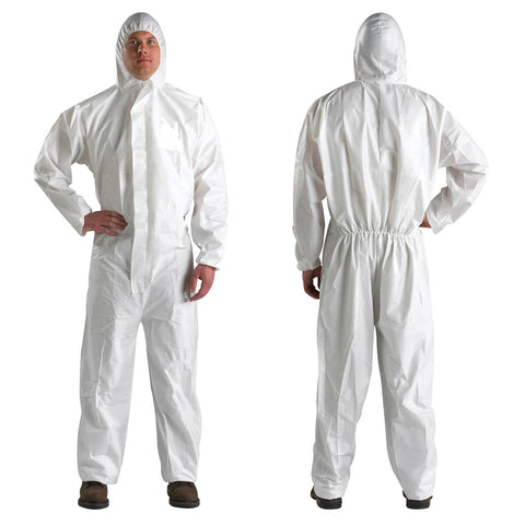 Vallen Valca 2000 Cat 3, Type 5 & 6 Disposable Coverall (White)