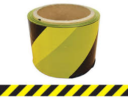 Barrier Tape Yellow/Black 100m x 75mm (Yellow/Black) BTYB100X75